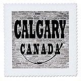 3dRose RinaPiro - Cities around the World - Calgary. Canada. Brick wall. - 16x16 inch quilt square (qs_261443_6)