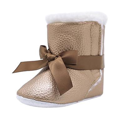 Zapatos de Invierno, Primer Paso para los niños, Botines de Bowknot Suaves
