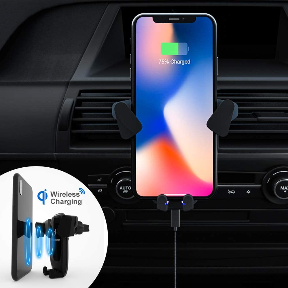 Wireless Car Charger ZeaLife Auto-Clamping Car Mount Phone Holder 10W Qi Wireless Fast Charger for iPhone 11//11 Pro//11 Pro Max//Xs MAX//XS//XR//X//8//8+,Samsung S10//S10+//S9//S9+//S8//S8+