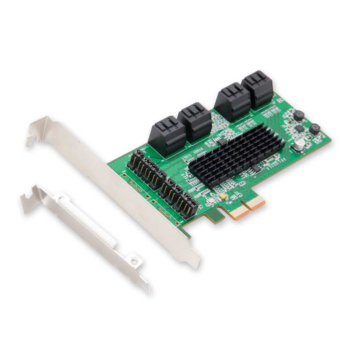 I/O Crest 8 Port SATA III PCIe 2.0 x2 Non RAID Controller Ca