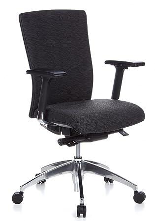 Hjh OFFICE 657414 Chaise De Bureau A Roulettes ASTRA BASE Gris