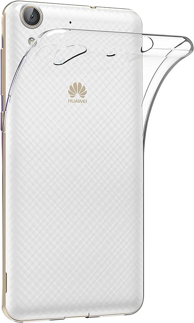 TBOC® Funda de Gel TPU Transparente para Huawei Y6II: Amazon.es ...