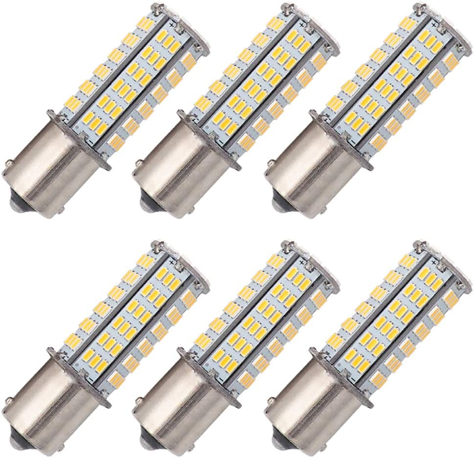 GRV BA15S 1156 1141 LED bulb 126-3014 SMD AC//DC 11-24V 4W High Bright Cool White Pack of 2