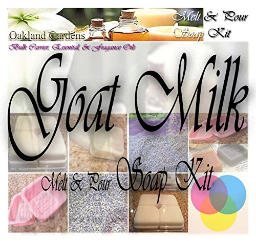 GOAT MILK Melt and Pour MP Soap Making Kit – Excellent Indoor Activity, Good Clean Fun, Hobby, Party Favors – Soap Making Kit By Oakland Gardens