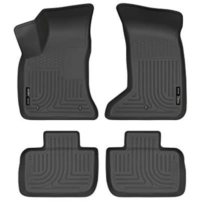 Husky Liners Fits 2011-20 Chrysler 300 AWD, 2011-20 Dodge Charger AWD Weatherbeater Front & 2nd Seat Floor Mats: Automotive