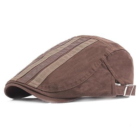 Scrox 1x Hombre Mujer Sombreros Gorras Boinas Moda Simple Vintage Flat Cap Casual Unisex Otoño Invierno
