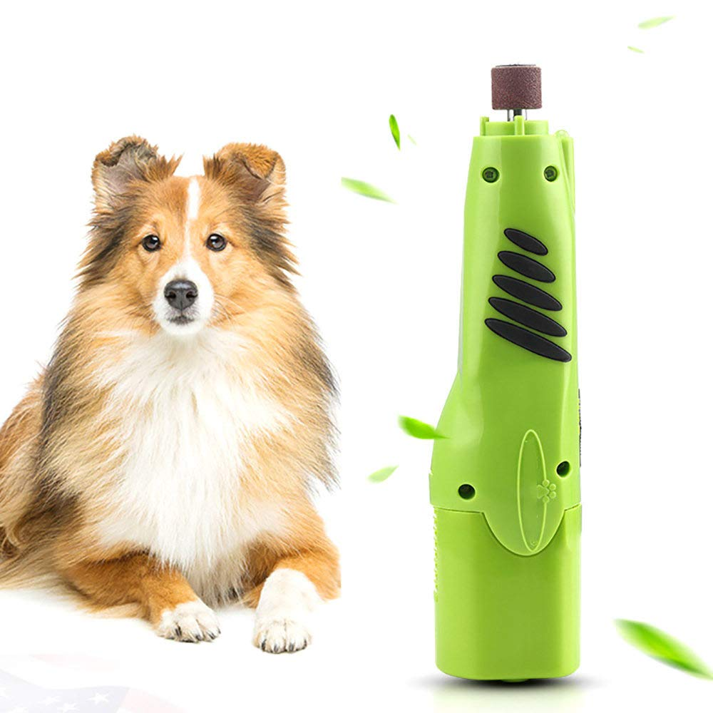 ZNZN Professional Dog Nail Grinders Low Noise,Electric Pet Nail Polisher with LED Light, 6000/12000 Rev/Min Dual Speed Optional