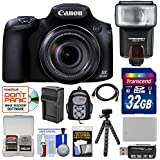 Canon PowerShot SX60 HS Wi-Fi Digital Camera with 32GB Card + Backpack + Flash + Battery & Charger + Tripod + Kit