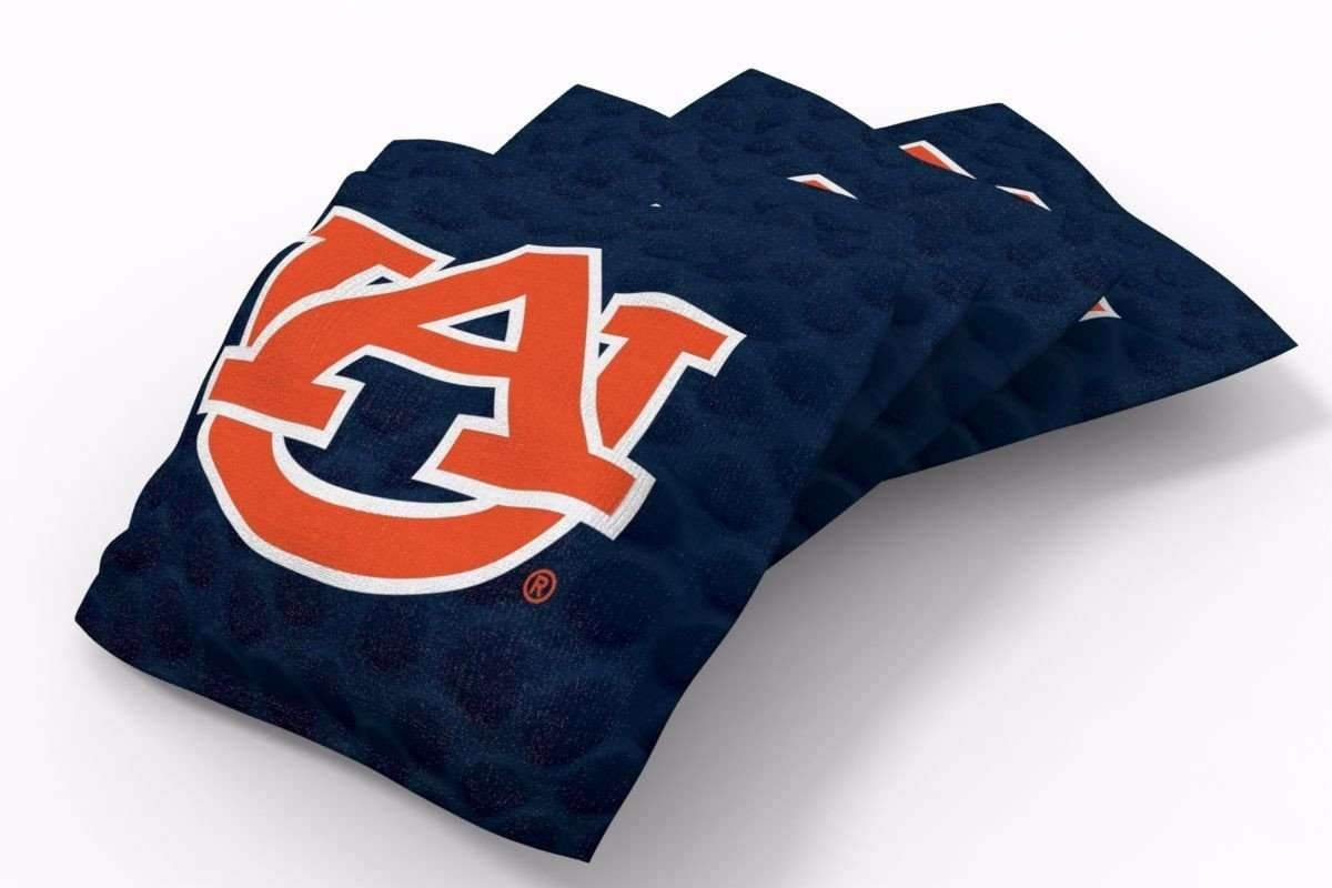 PROLINE 6x6 NCAA College Auburn Tigers Cornhole Bean Bags - Pigskin Design (A)