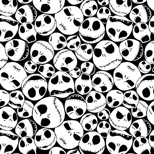 Disney Fabric Nightmare Before Christmas Fabric Jack Faces by the -