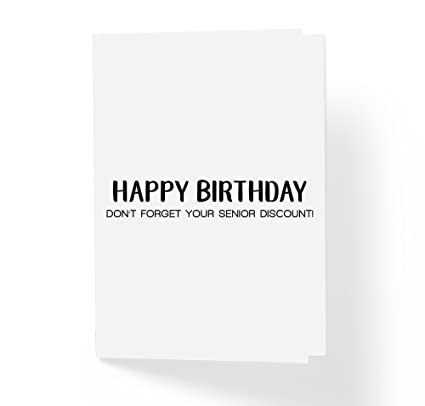 dont forget your senior discount birthday card black honest funny happy - Discount Greeting Cards