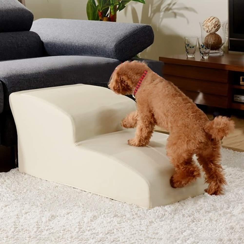 WYDM Scale per Cani Cani Cani gradini per Animali Domestici, gradini curvi per Cani, griglia per Letti per Cani, tappetini per Cani e per Anziani e per Scale in Pelle Antiscivolo (Rosso 48 x 40 x 20 cm) 09ab04
