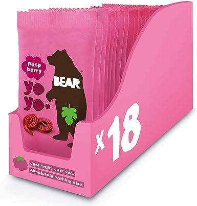 Bear Yoyo 100 Percent Fruit Rolls Raspberry 20 g (Pack of 18 ...