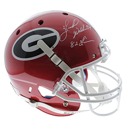 86a1d7fd5 Herschel Walker Georgia Bulldogs Autographed Signed Schutt Full Size  Replica Helmet with 82 Heisman Inscription w