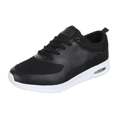 Damen Schuhe Freizeitschuhe Sneakers Turnschuhe Weiß Schwarz 38 etojcQ6zL