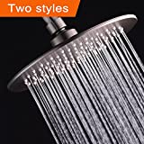Albustar Luxury Rainfall Shower Head With High Pressure and Spa Experience, Red Bronze Style, Easy Installation