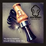Decoy Outdoors Wooden Duck Call with Killer Skull Logo