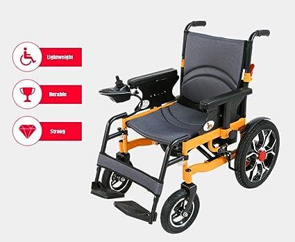 Amazon.com: J.GH Silla de ruedas eléctrica plegable, ligera ...