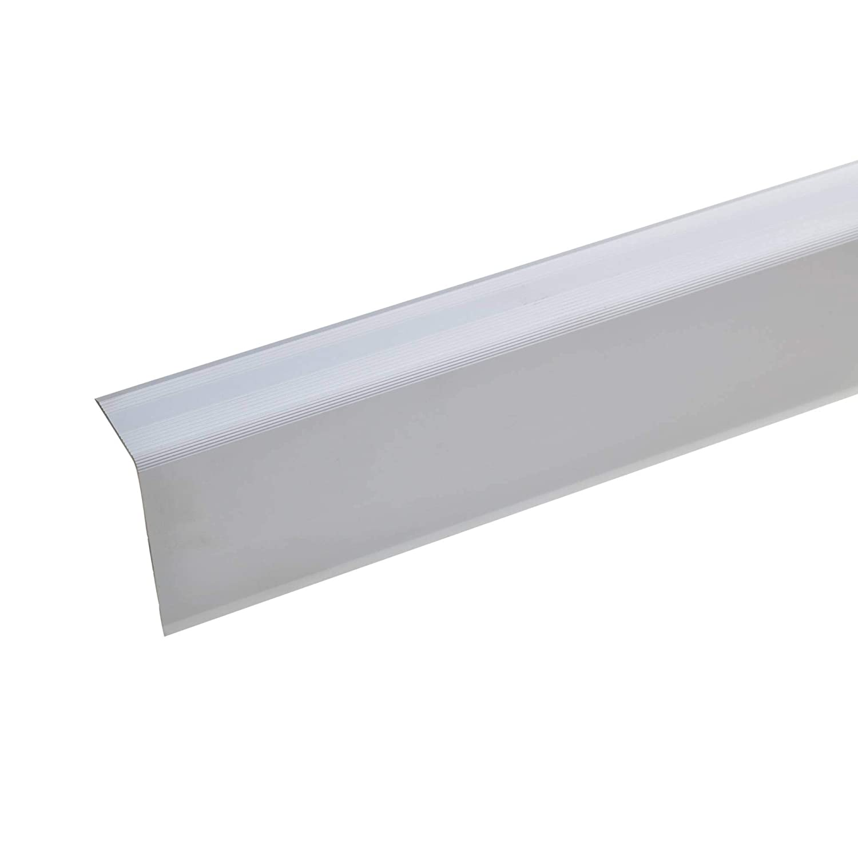 Selbstklebendes Treppenkanten-Profil 52x30mm Treppenkanten-Profil Treppenstufen-Profil aus Alu gold * Rutschhemmend * Robust * Leichte Montage acerto 51089 Aluminium Treppenwinkel-Profil 135cm