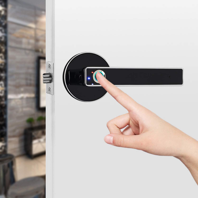 SODIAL Smart Door Lock Home Keyless Lock Smart Fingerprint Biometric Electronic Lock for Home and Office