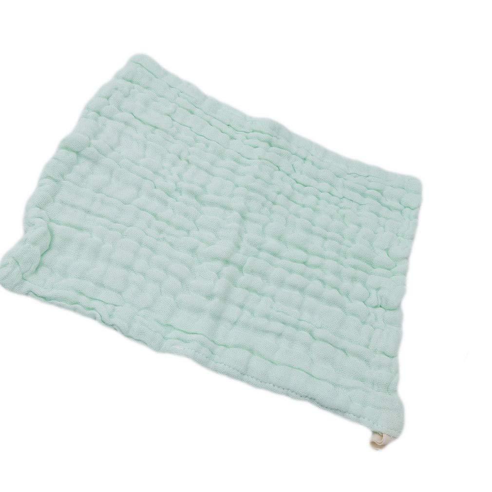 Ogquaton Serviettes de bain haut de gamme Serviettes de bain Serviette en mousseline Lingettes r/éutilisables Serviettes visage doux pour le nouveau-n/é vert