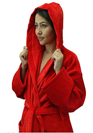 b060347114 Terry Cotton Adult Hooded Bathrobes