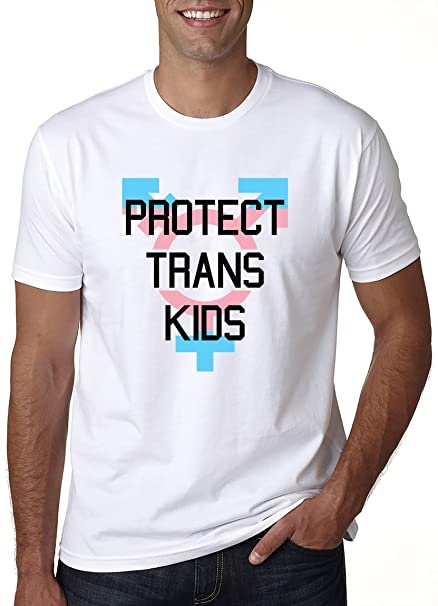DzgTee Protect Trans Kids Mens T-Shirt XX-Large