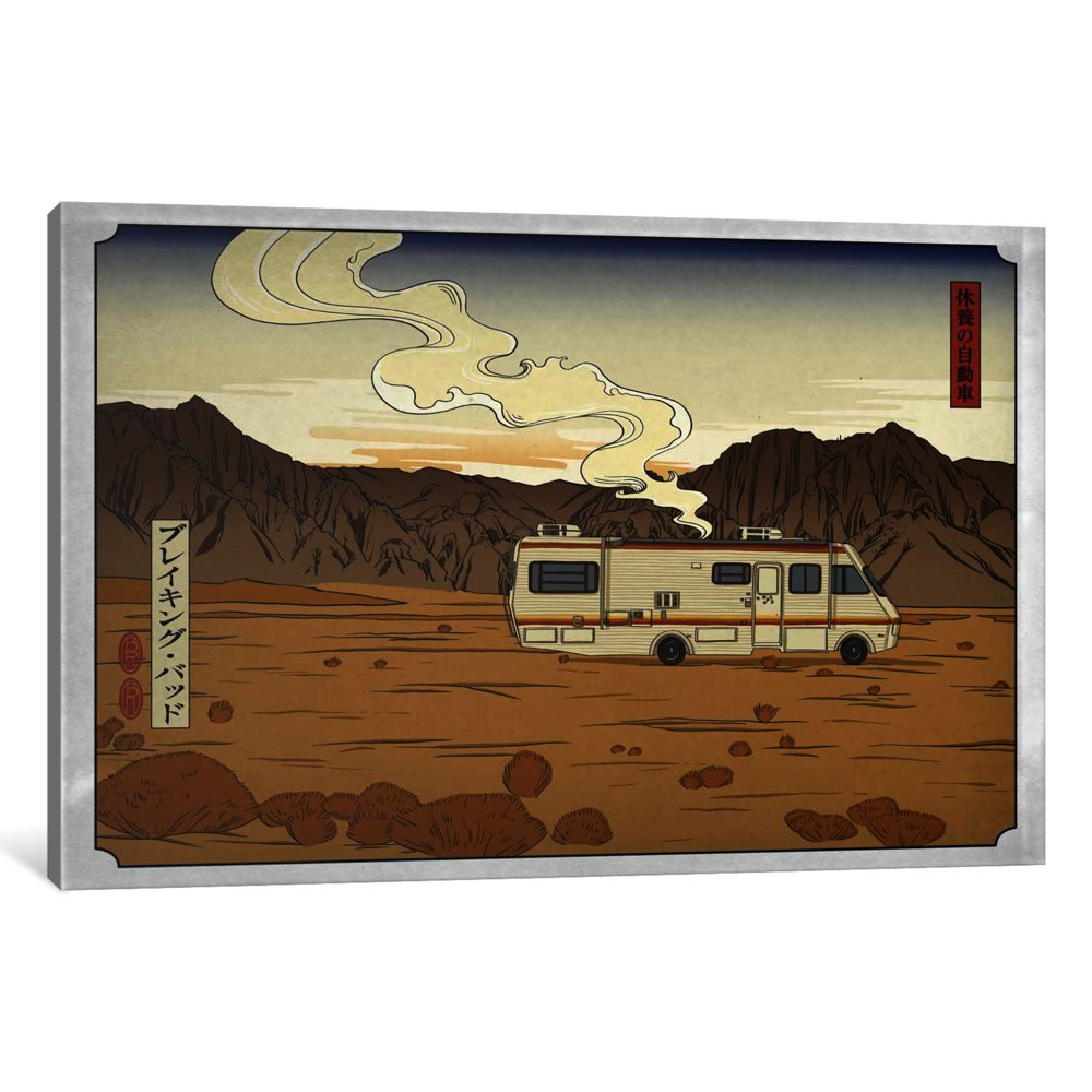 0.75 by 60 by 40-Inch iCanvasART 3-Piece Road Trippin Canvas Print by Darklord