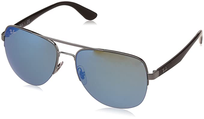 09c6aa3cf9 ... get colour ray ban mirrored aviator mens sunglasses 0rb3552i004  555858flash b53ab c888b