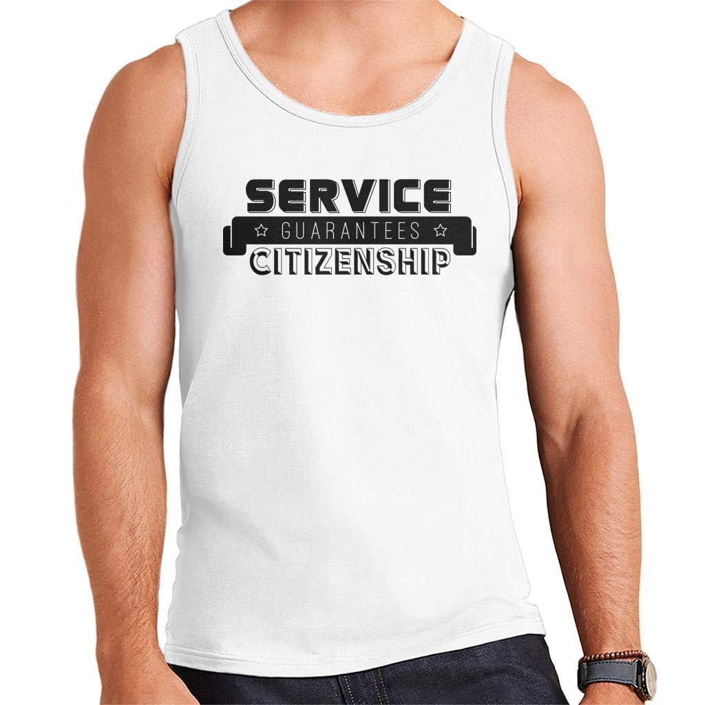 YBSJDQ Starship Troopers Service Guarantees Citizenship Mens Vest