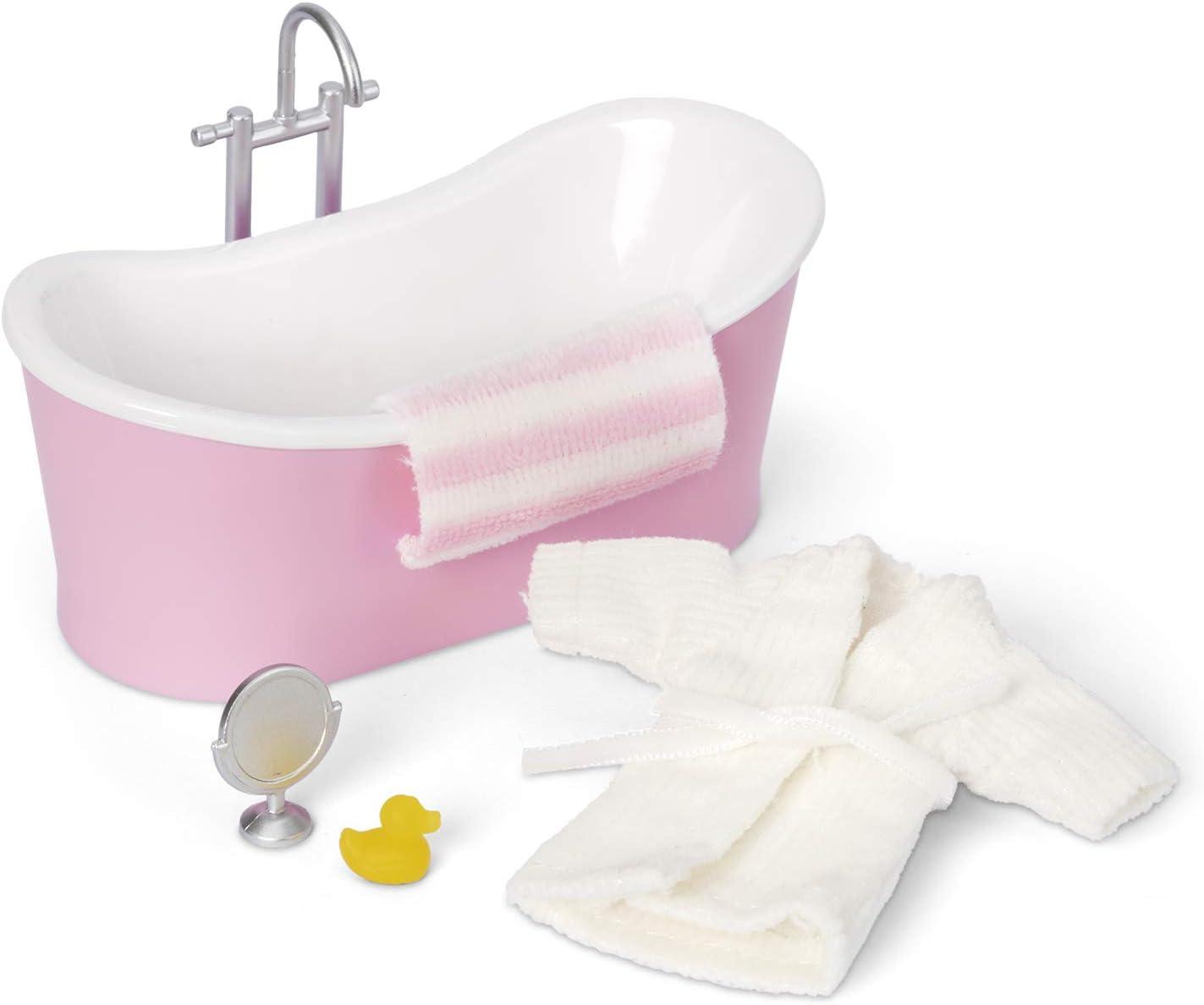 Melody Jane Lundby Dollhouse Bath Tub & Accessory Set Bathroom Furniture 1:18 Scale