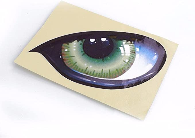 2Pcs 3D Stereo Car Auto Side Fender Eye Stickers Decals Badges Adhesive Decor