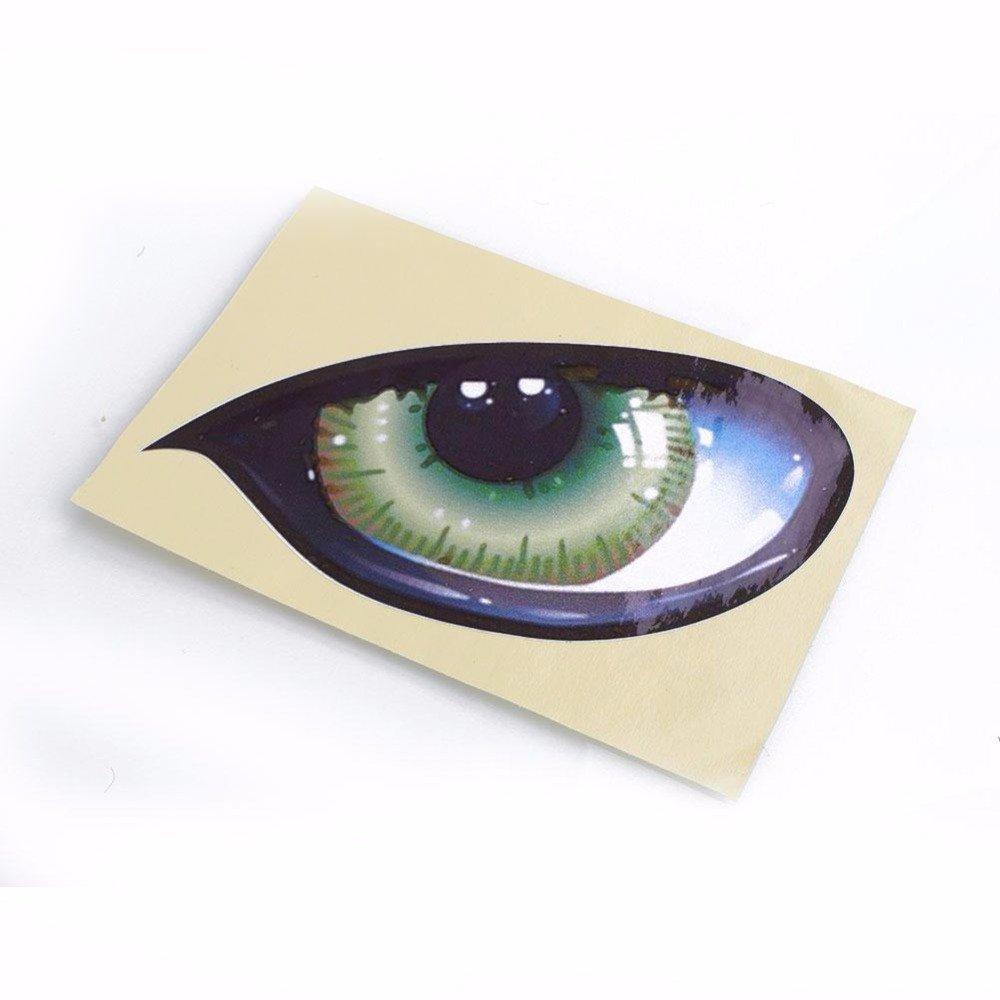ETbotu 2Pcs 3D Stereo Reflective Cat Eyes Car Sticker Creative Rearview Mirror Decal