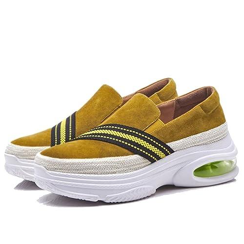 GAOLIXIA Mocasines para Mujeres Zapatos Ocasionales Suelas Gruesas Zapatos Deportivos Slip-on Air Cushion Casual Shoes Estudiantes Zapatos para Caminar al ...