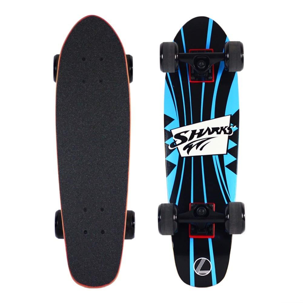 新到着 ZX board ビッグサメ メープル 小さな魚のプレート 4ラウンド (色 スケートボード バナナプレート 大きな魚のプレート アダルト B07H256H58 男性と女性 ブラシストリート 旅行 (色 : Blue board) B07H256H58 Blue board, フタバマチ:96acad0d --- a0267596.xsph.ru