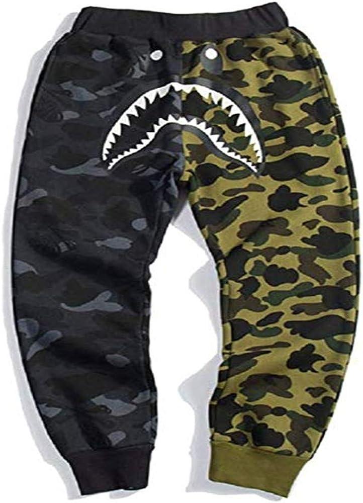 New A Bathing Ape Japan Men's Bape Shark Jaw Shorts Camo Print Color Pants