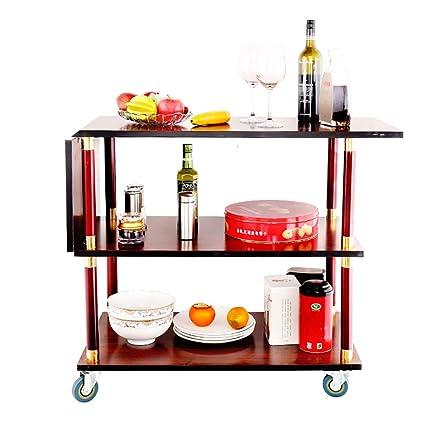 9454e00a6988 Amazon.com - Serving Wine Cart Caster Wheels, 3-Tier Rolling Metal ...