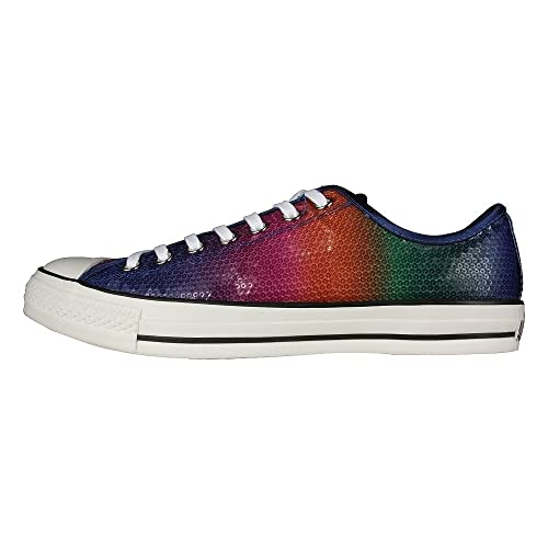 32dfa1c73ffd Converse Unisex Chuck Taylor All Star Rainbow Sequins Lo Tops 2 Pair Laces  112491 (Mens