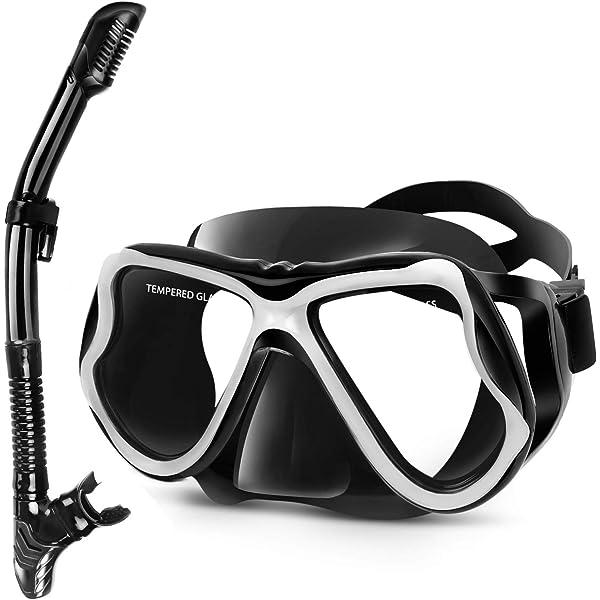 Professional Diving Mask Men Women Anti-fog Swimming Goggles Snorkel Tube Set DT