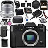 Fujifilm X-T20 Mirrorless Digital Camera (Black) 16542490 XF 50mm f/2 R WR Lens (Silver) 16536623 Bundle