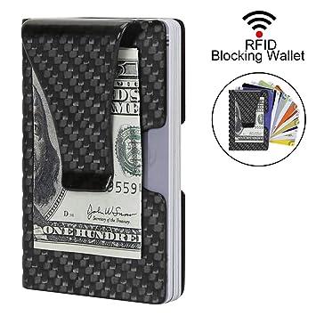 6606daad953ba Kreditkartenetui Herren Portemonnaie RFID   NFC Schutz Edles Design Carbon  Slim Wallet für 9 Kreditkarten Mini
