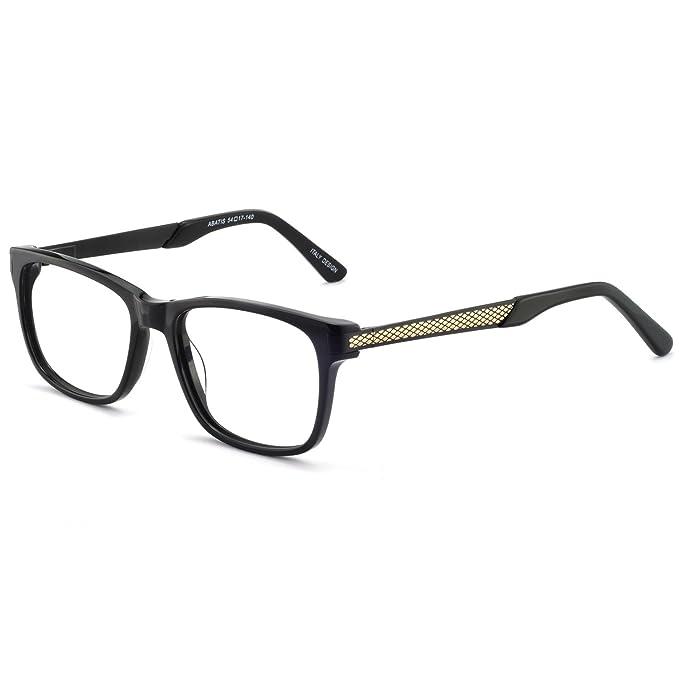 621673dbfc OCCI CHIARI Men s Non Prescription Eyeglasses Frame Fashion Glasses Optical  Eyewear (Black)