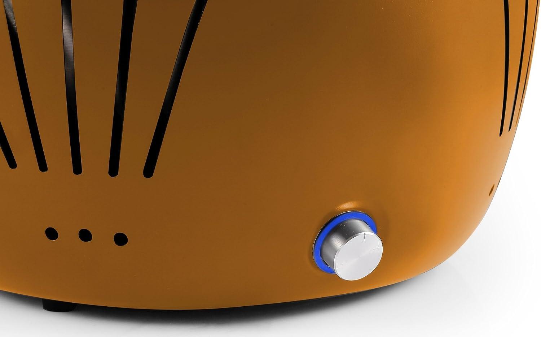 El Fuego Holzkohlegrill Tulsa Test : El fuego rauchfreier holzkohlegrill tulsa orange 34 2 x 34 2 x 21