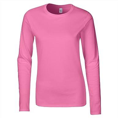 030a577fa ZEE FASHION Ladies Plain Stretch Fit Long Sleeve Womens T-Shirt Round Neck  Basic Top Plus Size UK 8-26: Amazon.co.uk: Clothing