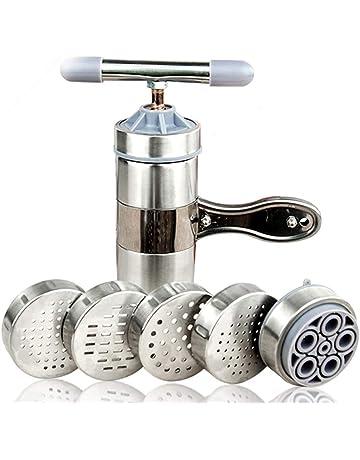 FUVOYA Máquinas de Pasta Manual, Fabricante de Fideos de Acero Inoxidable Manual Fideos Prensa Pasta