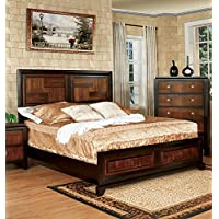247SHOPATHOME Idf-7152Q Bed-Frames, Queen, Walnut