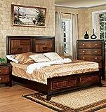 Best 247SHOPATHOME Bed Frames - 247SHOPATHOME Idf-7152CK Bed-Frames, California King, Walnut Review