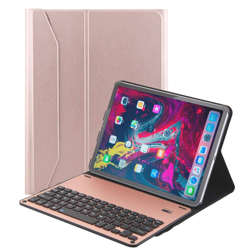 【即納&大特価】 iPad Pro iPad 11 2018用スマート取り外し可能キーボードケース レザースタンド 保護スリムフォリオ Pro 磁気充電サポート付き Bluetoothワイヤレスキーボードカバー B07KT1Q2XW Apple iPad Pro 11対応 ローズゴールド B07KT1Q2XW, 高級靴 Discount Shop precious:cd0e24c7 --- a0267596.xsph.ru