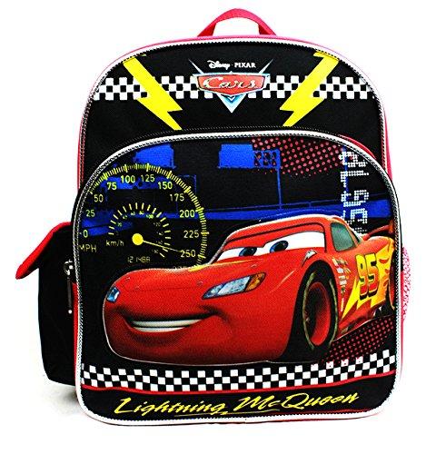 Mini Backpack - Disney - Cars - Lightning McQueen Black New