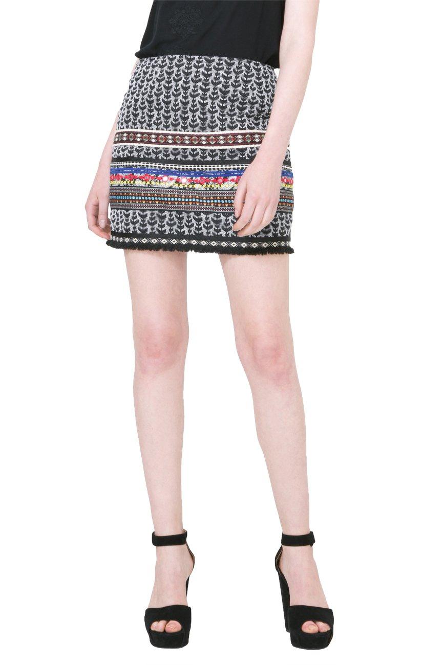 Desigual Women's Avila Woven Short Skirt, black, S